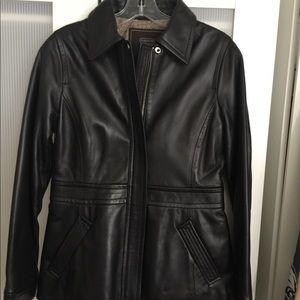 COACH Leather Jacket Black car Coat NEW